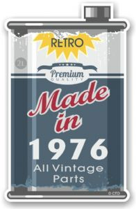 Vintage Aged Retro Oil Can Design Made in 1976 Vinyl Car sticker decal  70x110mm